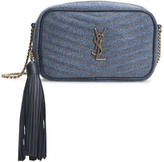 Saint Laurent Mini Lou Matelasse Denim Camera Bag