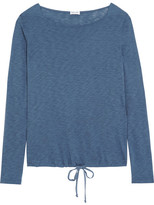 Splendid Supima Cotton And Micro Modal-blend Jersey Top - Blue