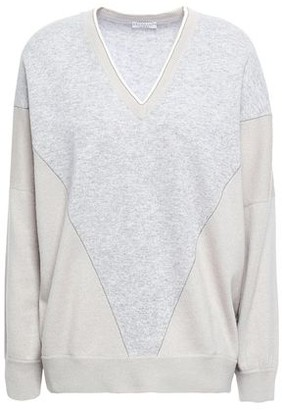 Brunello Cucinelli Bead-embellished Intarsia-knit Cashmere Sweater