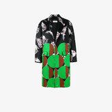 Dries Van Noten Geometric floral printed coat