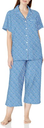 Karen Neuburger Women's Petite Short Sleeve Girlfriend Capri Pj Sleepwear