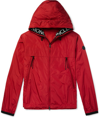 Moncler Massereau Logo-Embroidered Hooded Shell Jacket