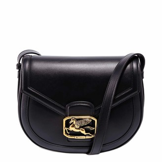 Etro Pegaso Leather Shoulder Bag