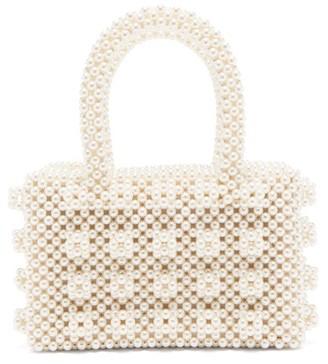 Shrimps Bell Faux-pearl Embellished Bag - Cream
