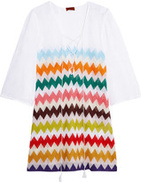 Missoni Mare Lace-up Crochet-knit Mini Dress - White