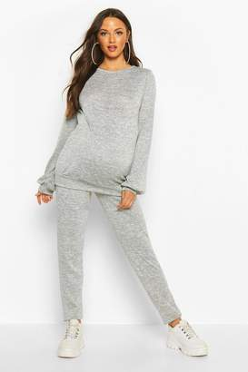 boohoo Maternity Crew Lounge Set