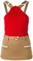 Miu Miu knitted strap top