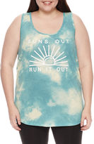 Fifth Sun Chin-Up Tank Top-Juniors Plus
