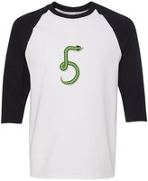 Cute Rascals Snake Number-Five-Shaped 3/4 Sleeve Raglan Kids T Shirt Toddler Baseball Tee