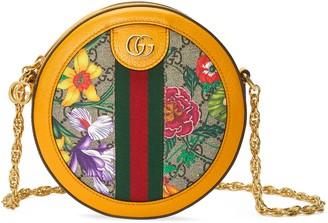Gucci Ophidia GG Flora mini round shoulder bag
