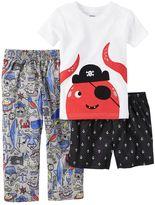 Carter's Toddler Boy Shark Tee, Print Shorts & Pants Pajama Set