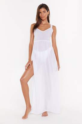 Nasty Gal Womens Find Me at the Beach Crossback Cover-Up Dress - black - 12