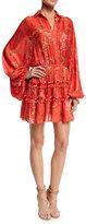 Alexis Loe Blooming Floral-Print Dress, Red