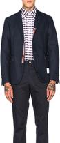 Thom Browne Double Woven Twill Classic Blazer