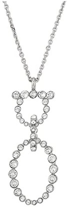 Salvatore Ferragamo Gancio Crystal Necklace (Silver-Tone) Necklace