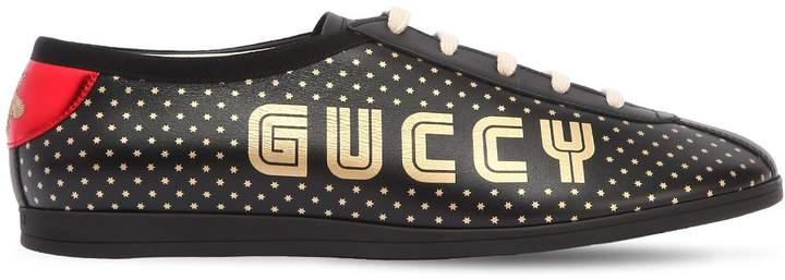 Gucci Falacer Guccy & Stars Leather Sneakers