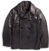 Ralph Lauren RRL Kentner Leather Pea Coat