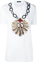 Dolce & Gabbana embroidered heart T-shirt