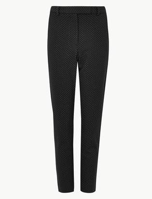 M&S CollectionMarks and Spencer Spot Print Slim Fit 7/8th Trousers