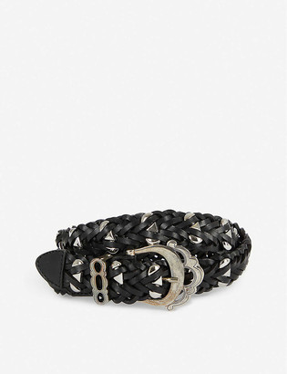 Maje Aya studded leather belt