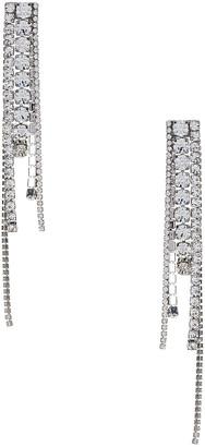 Area Chandelier Earrings in Silver & Clear | FWRD