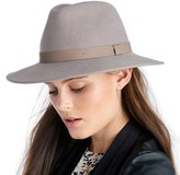 Sole Society Wide Brim Hat w/ Faux Leather Band