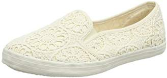 Evans Women's Extra Wide Ivory Trainers,43 EU