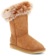 Australia Luxe Collective Foxy Short Hidden Wedge Genuine Shearling Boot With Genuine Fox Fur Trim
