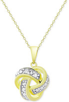 Macy's Knot Pendant Necklace in 18k Gold over Sterling Silver