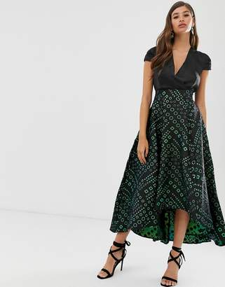 Closet London Closet 2 in 1 high low maxi dress-Black