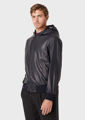 Giorgio Armani Hooded Puffer Jacket With Technical Fabric Shell