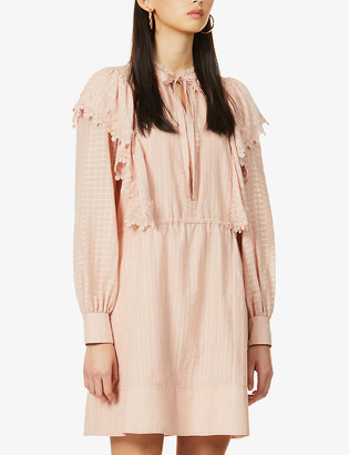 See by Chloe Frilled woven mini dress