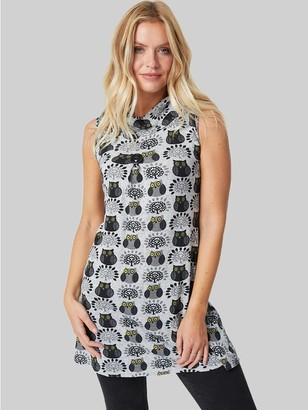 M&Co Izabel owl print turtle neck tunic dress