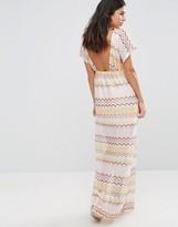 Traffic People Striped Maxi Dress