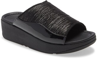 FitFlop Myla Glitz Wedge Slide Sandal