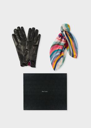 Women's 'Swirl' Gloves And Neckerchief Box Set