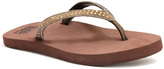 Lamo Chocolate Resort Suede Flip-Flop - Women