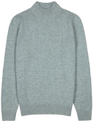 A.P.C. Grey high-neck wool jumper