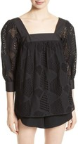Milly Women's Eyelet Lace Top