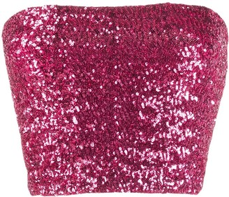 Andamane Sequin Cropped Top