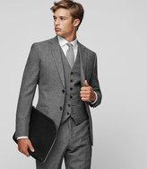 Reiss Reiss Bronson W - Slim Wool Waistcoat In Grey, Mens