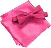 Alfani Pink Bow Tie & Pocket Square Set, Created for Macy's