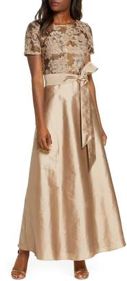Pisarro Nights Beaded Taffeta Gown