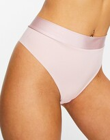 Lindex invisible high waist thong in soft pink