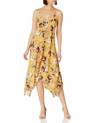 BCBGMAXAZRIA Women's Flowy V_Neck Midi Dress Cover_Up