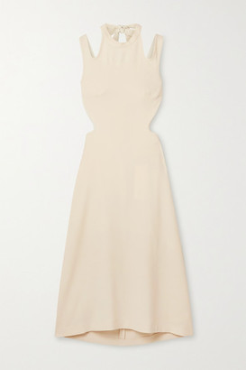 Dion Lee Tie-back Cutout Crepe Midi Dress