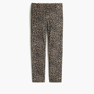 J.Crew Leopard-print Winnie pant in stretch cotton