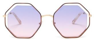 Chloé Poppy Octagonal Sunglasses - Womens - Purple