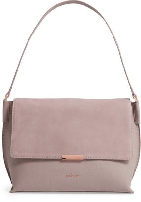 Ted Baker Louissa Bar Detail Suede & Leather Shoulder Bag