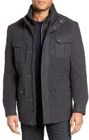 Michael Kors Men's Wool Blend Inset Bib Field Jacket